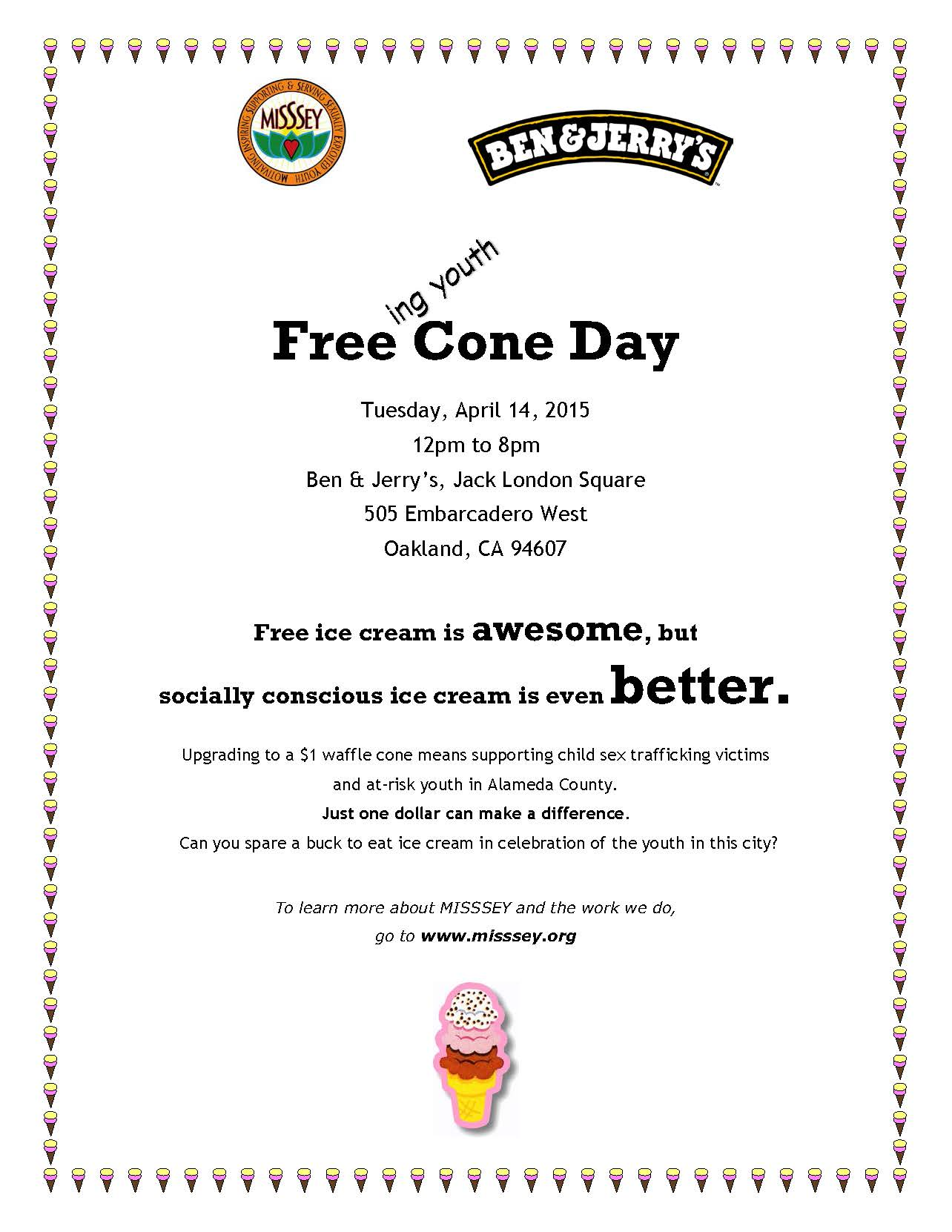 Free Cone Day Flyer 2