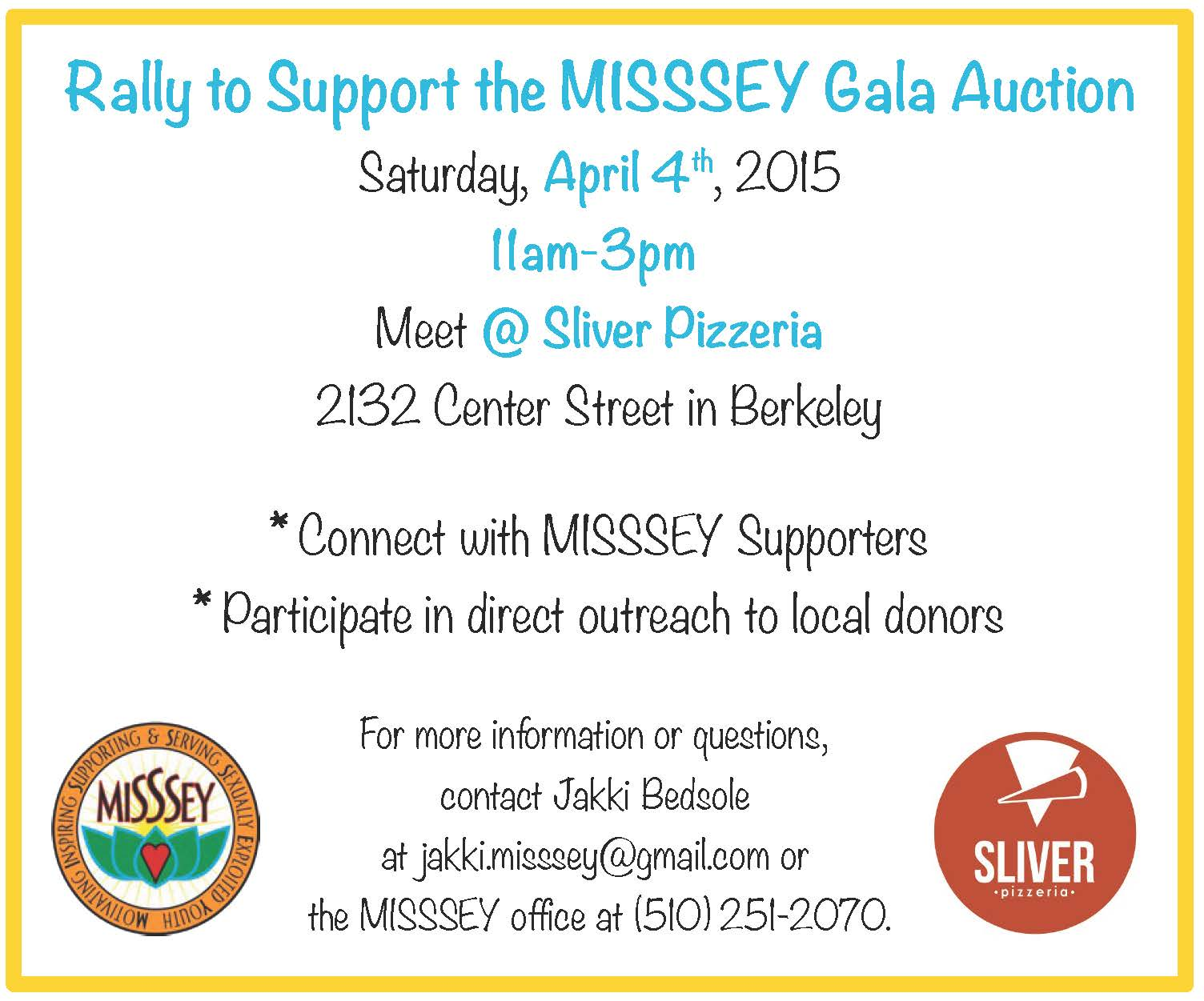 Rally to Support MISSSEY Gala Auction