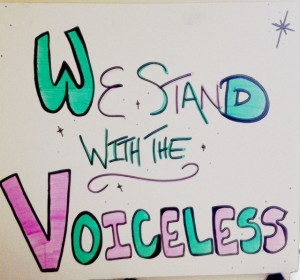 We Stand with the Voiceless