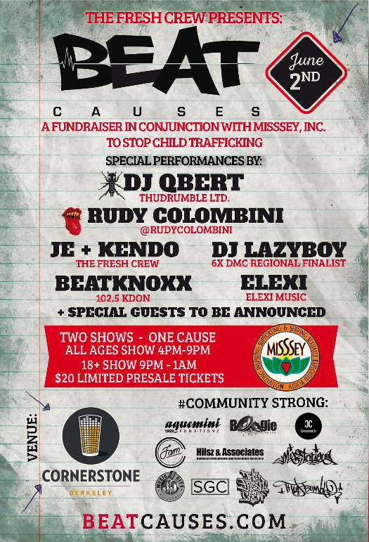 Beat Causes Fundraiser Flyer